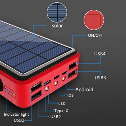 80000 Powerbank Solar en draadloos
